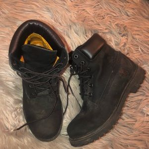 Womens black Timberland boots